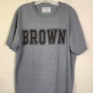 Champion Brown University Gray Graphic Tshirt